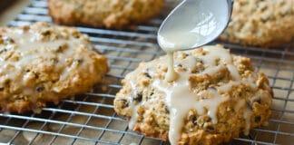 Glazed Oatmeal-Maple Scones