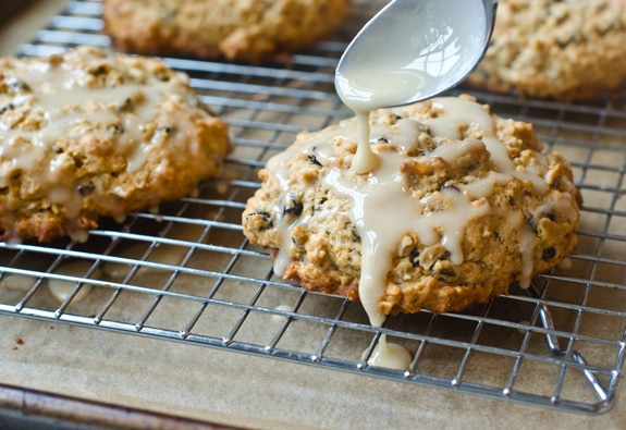 Glazed Oatmeal-Maple Scones